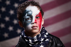 Ung amerikansk patriot Royaltyfria Bilder