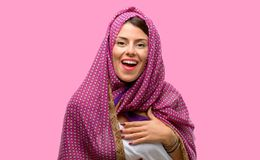 Ung arabisk kvinna royaltyfri foto