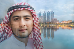 Ung arabisk man royaltyfri fotografi