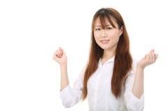 Ung asiatisk affärskvinna Arkivbild