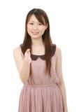 Ung asiatisk affärskvinna Arkivfoto