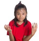 Ung asiatisk dropp för flickaframsidauttryck Fotografering för Bildbyråer