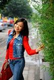 Ung asiatisk kvinna Royaltyfria Foton
