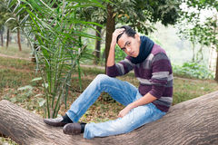 Ung asiatisk man Fotografering för Bildbyråer