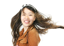 Ung attraktiv asiatisk flicka Royaltyfri Bild