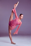 Ung ballerinadansare som visar hennes tekniker Royaltyfria Bilder