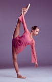 Ung ballerinadansare som visar hennes tekniker Royaltyfria Foton