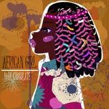 Ung beautyful afrikansk kvinna stock illustrationer