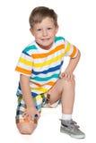 Ung blond pojke royaltyfria bilder