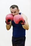 Ung boxare med handskar Royaltyfri Fotografi