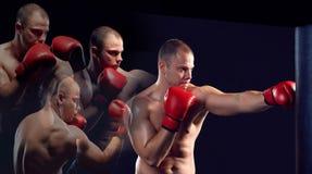 Ung boxareboxning Arkivfoton