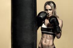 Ung boxarekvinna arkivfoto