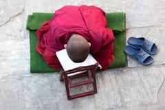 Ung buddistisk munk, Nepal Arkivfoton
