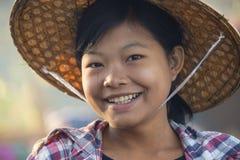Ung Burmese kvinna - Myanmar Royaltyfria Foton