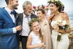 Ung Caucasian dag för bröllop för par` s arkivfoton
