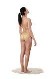 Ung caucasian kvinna i bikini Royaltyfri Fotografi