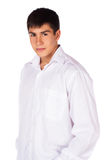 Ung caucasian man Arkivfoto