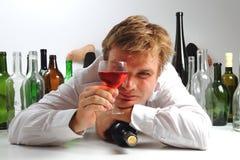 Ung chef och wine Royaltyfria Foton