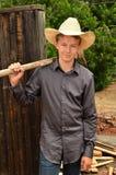 Ung Cowboy Royaltyfria Bilder
