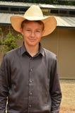 Ung Cowboy Royaltyfri Foto