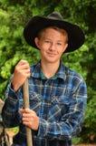 Ung Cowboy Royaltyfri Bild
