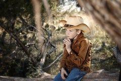 Ung cowboy Royaltyfri Fotografi
