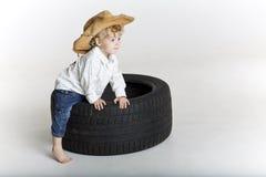 Ung cowboy Fotografering för Bildbyråer