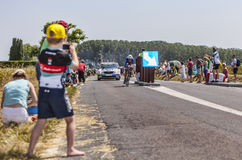 Ung cykla fan Royaltyfri Bild