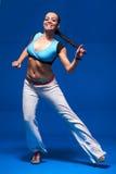 Ung dansare i rörelse Arkivfoton