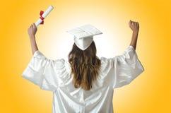 Ung deltagare med diplomet Royaltyfria Bilder
