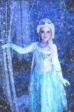 Ung Disney fryst prinsessa Arkivbilder