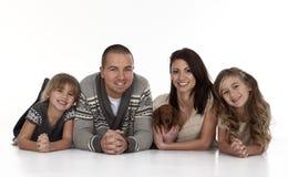 Ung familj Arkivfoton