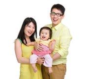 Ung familj royaltyfri bild