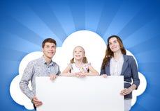 Ung familj Royaltyfri Fotografi