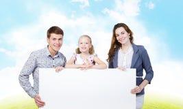 Ung familj Royaltyfri Foto