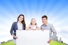 Ung familj Arkivfoto