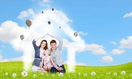 Ung familj Fotografering för Bildbyråer