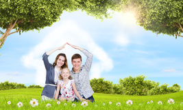 Ung familj Royaltyfria Foton
