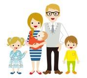 Ung familj - Caucasian stock illustrationer