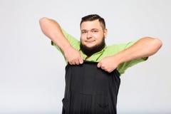 Ung fet man Fotografering för Bildbyråer