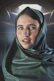 Ung flicka från Shimshal pakistan Fotografering för Bildbyråer