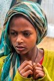 Ung flicka från sjön Langano Royaltyfri Foto