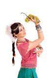 Ung flicka i den indiska medborgaredräkten royaltyfria bilder