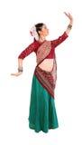 Ung flicka i den indiska medborgaredräkten royaltyfri foto