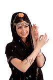 Ung flicka i den indiska medborgaredräkten royaltyfria foton