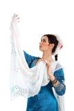 Ung flicka i den indiska nationella dräkten Royaltyfria Foton