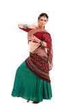 Ung flicka i den indiska nationella dräkten Fotografering för Bildbyråer