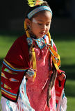Ung flicka - indianPowwow Arkivfoto