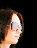 Ung flicka med solglasögon Royaltyfri Fotografi