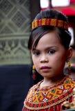 Ung flicka på Toraja begravnings- ceremoni Royaltyfri Foto